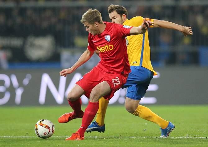 Simon Terodde (VfL Bochum) beim Spiel in Braunschweig.
